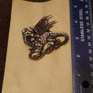 Winged Dragon brooch or pin